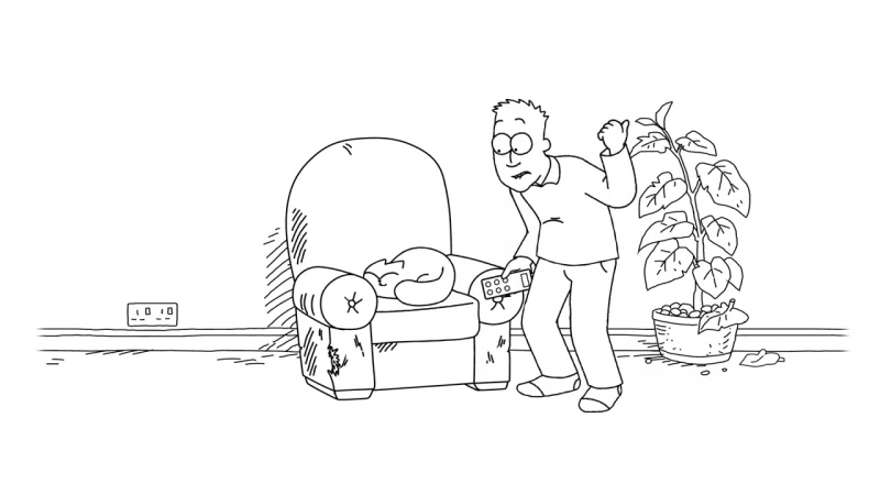 Simon's Cat in 'Armchair Fan ' (Episode 79, 2018 FIFA World Cup Special)