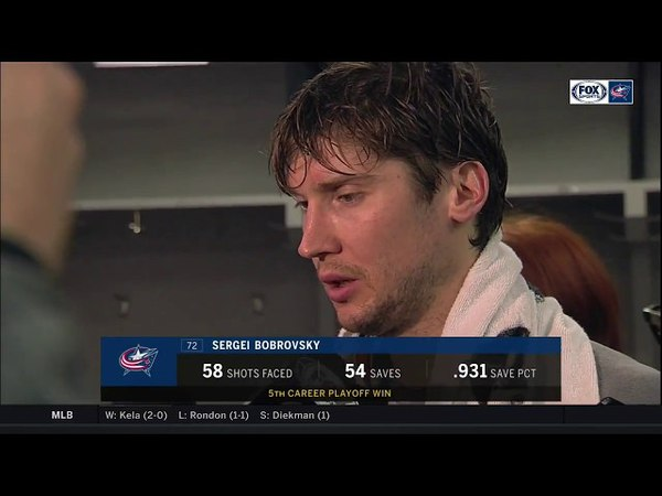 Sergei Bobrovsky living in the moment after 54-save performance | BLUE JACKETS-CAPITALS POSTGAME