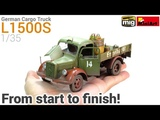 How to Build, Paint and Weather a realistic Scale Model! MiniArt's 135 German Cargo Truck L1500S