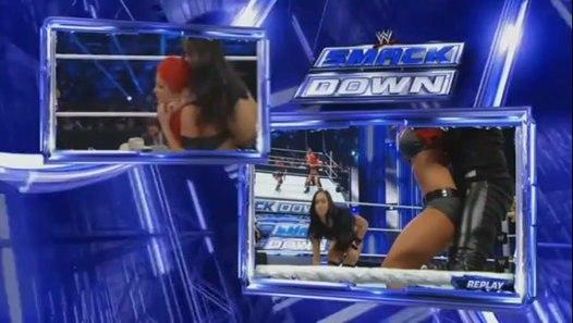 Smackdown: Natalya Eva Marie vs AJ Lee Tamina Snuka