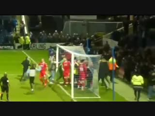 Not good to see this from the Chesterfield v Ebbsfleet game