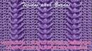 Variación 1 del Punto a crochet Espigas combinado con puntos calados PARA ZURDOS