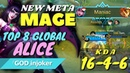 Alice is the New Meta Mage - Maniac, Almost Savage Gameplay Build [Top 8 Global Alice]『GOD』injoker