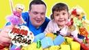 Папа Дома • Папа Миша и Алина. Игра в кубики и кинетический песок!