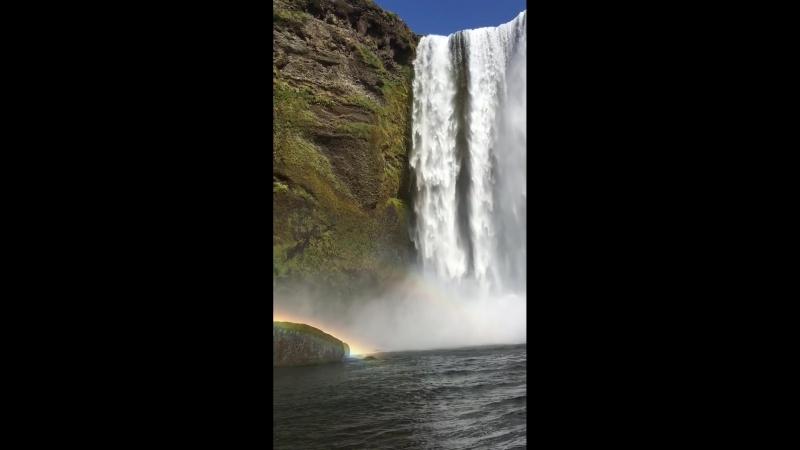 Водопад супперской красоты с двумя радугами🌈🌈😍😻💖👍👍👍
