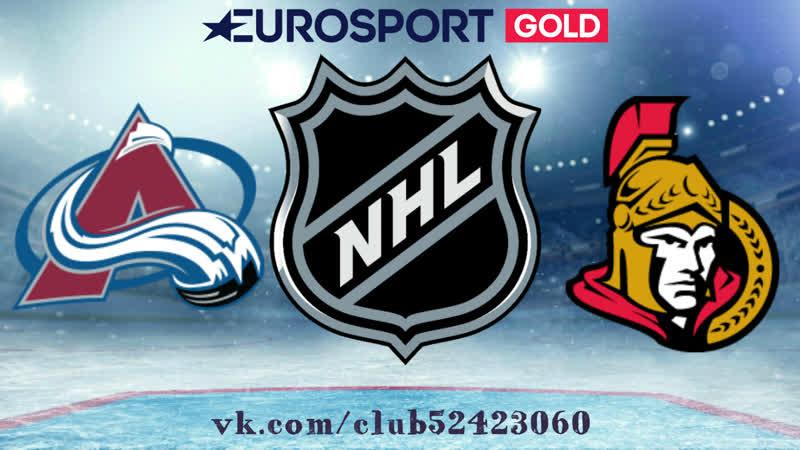 Colorado Avalanche vs Ottawa Senators   16.01.2019   NHL Regular Season 2018-2019   RU