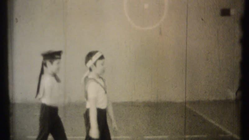 23 02 1987 г Соревнования мальчиков Жениного класса в спортзале шк №1