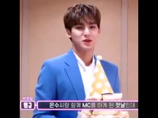 mingyu and all inkigayo sandwiches hes gotten