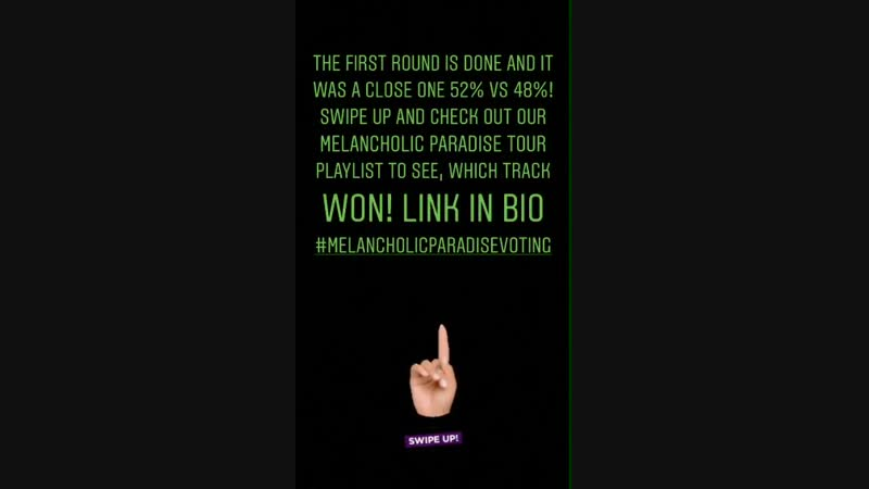 14.01.2019 - @tokiohotel's IG Stories I - The first round is done and it was a close one 52 vs 48! Swipe up and check out our Me