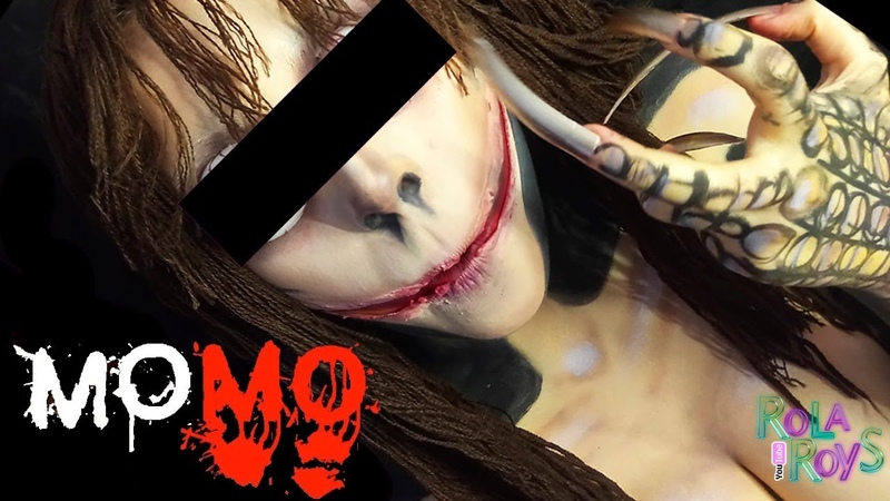 The Momo Makeup Tutorial   МОМО - грим Тролля из WHATSAPP   Rola Roys