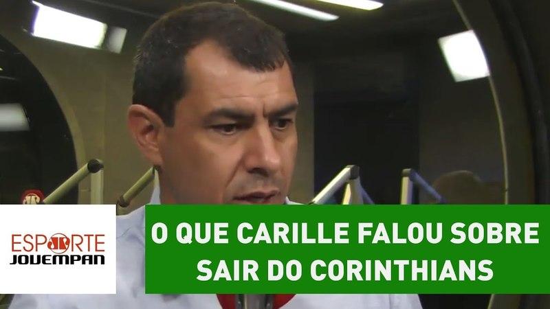 E agora? OLHA o que Carille falou sobre sair do Corinthians