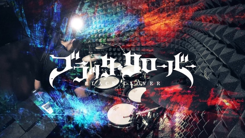 черный клевер【ブラッククローバー】BiSH - PAiNT it BLACK フルを叩いてみた Black Clover Opening2 full Drum Cover