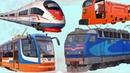 Собираем Пазлы про Железнодорожный транспорт  Мультфильм для Детей  Развивающее видео