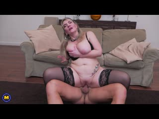 German older lady with big breasts gets a steamy creampie after fucking and sucking her lover - http://www.vidz72.com