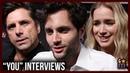 YOU Cast Talk Social Media, Season 1, Joe Beck's Love   Penn Badgley, John Stamos, Elizabeth Lail
