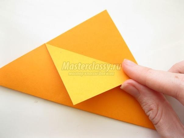 Лисёнок-оригами делаем сами