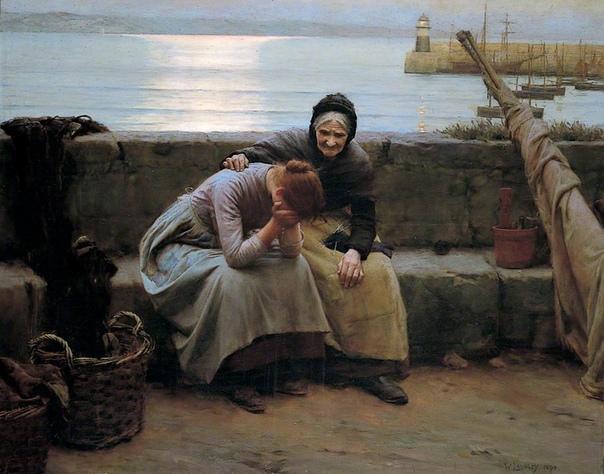 История одного шедевра. «Never Morning Wore to Evening but Some Heart did Brea» (Утро вечера мудренее, но все же сердца разбиваются), Уолтер Лэнгли 1894 г. Холст, масло. Размер: 122 x 152.4 см.