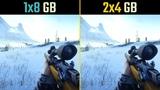 Battlefield V 8GB RAM (Single Channel vs. Dual Channel, 1x8 vs. 2x4)