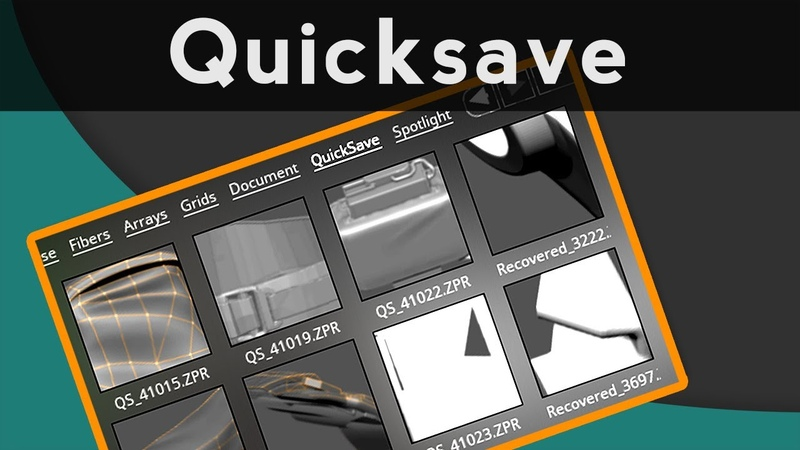 009 ZBrush QuickSaves and File Recovery