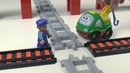 Поезда мультики Перекресток. Мультики для детей про Машинки игрушки Лего и Паровозики.