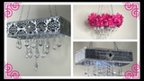 DIY GLAM AND BLINGY CHANDELIER USING DOLLAR TREE TIMES 3 DIFFERENT STYLES