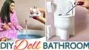DIY miniature Bathroom Items for Dolls (toilet, make up more)