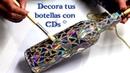 Botella decorada estilo mosaico con Cds ArteRIV
