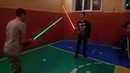 Разнос школы Джедайскими мечами и пьяный шаман Racing school Jedi sword drunk shaman