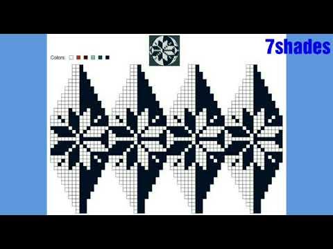 Copy of graph knitting pattern | fair isle flower knitting | graph design