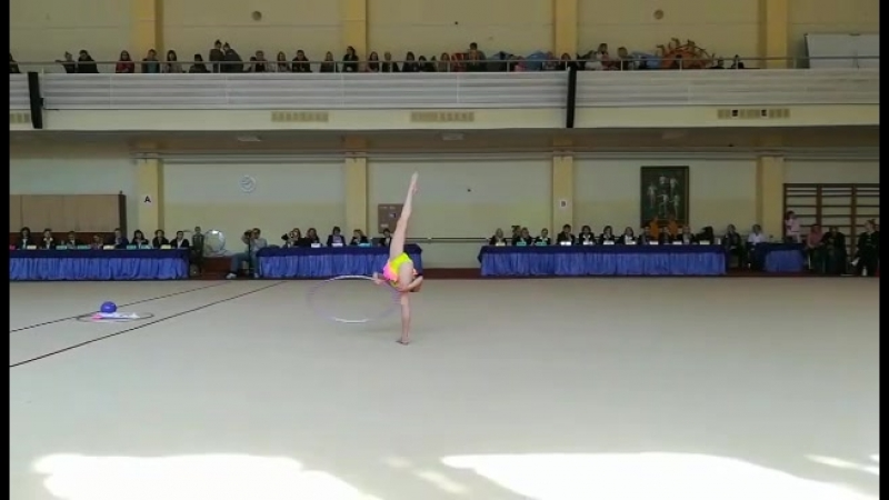 Тихонович Наталья, финал, обруч-2-е место!  г.Гродно!Спартакиада ДЮСШ Минск 2018!