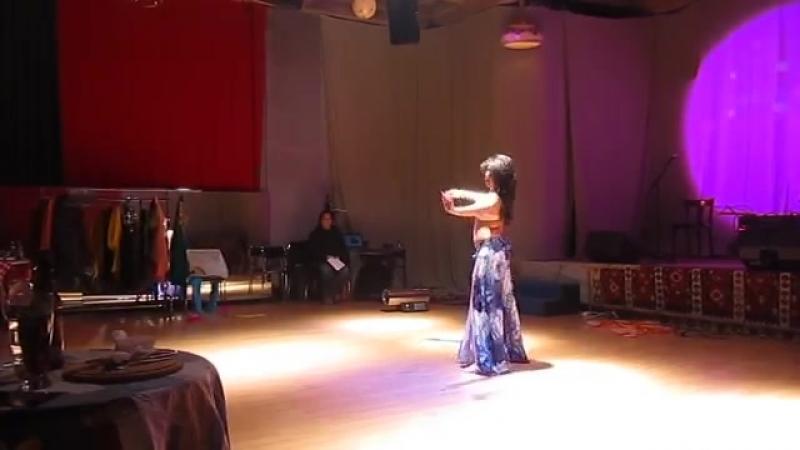 Sara dancing Azad Kaan's modern contemporary oriental choreography 23928