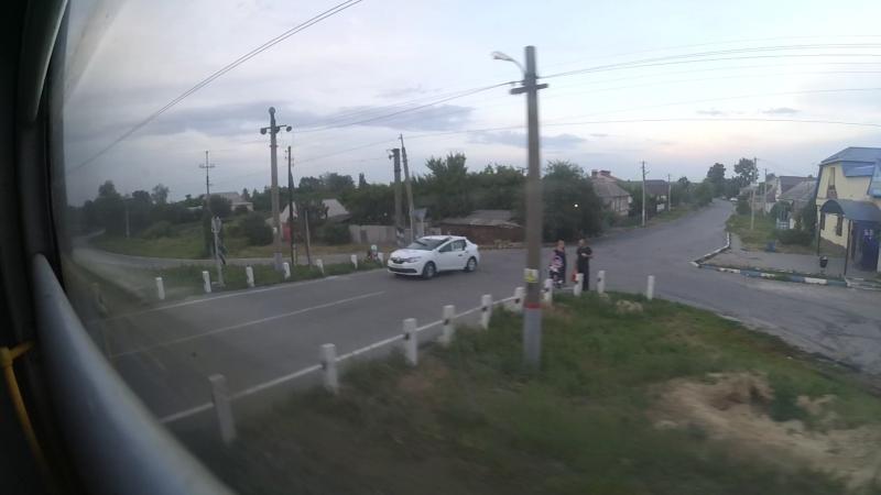 Перегон о.п.Зеленая Поляна―о.п.689 км в вагоне электропоезда ЭД4М-0166