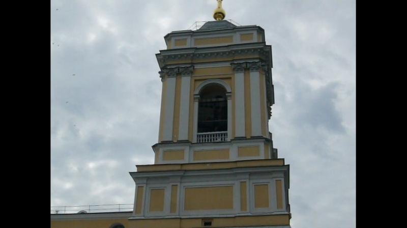 Звон колоколов. Звонница Свято-Троицкого собора Александра-Невской Лавры