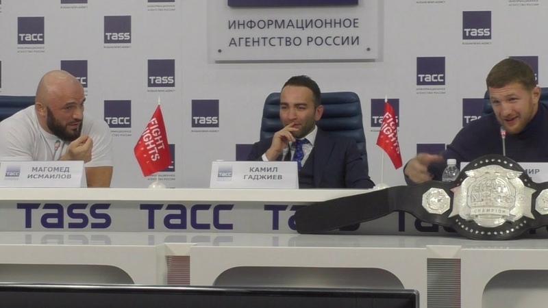 Я объясню почему ты трус Огненная пресс конференция Владимира Минеева и Магомеда Исмаилова
