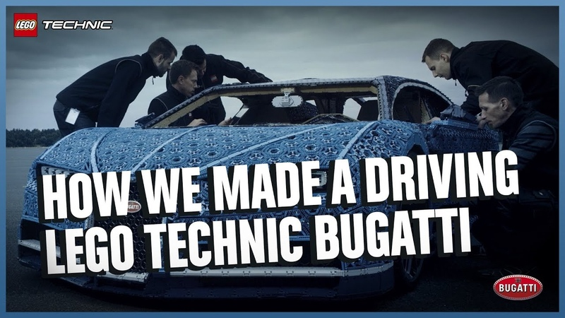 See how it was made The Amazing Life Size LEGO Technic version of the Bugatti Chiron