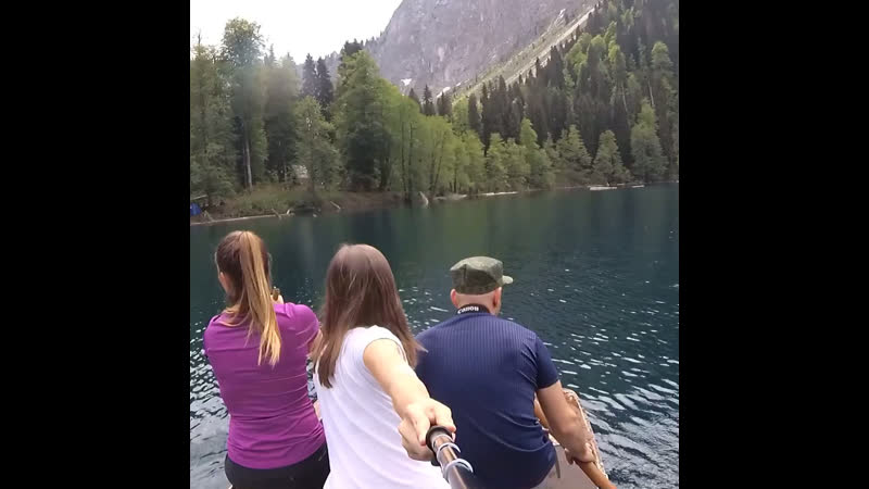 Поход на озеро Малая Рица
