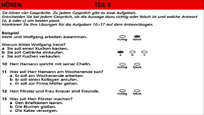 B1 Hören DAF-B1 Hören  Prüfung Hörverstehen test
