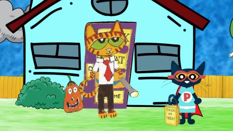 Pete the Cat Trick or Pete Cartoon