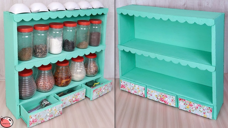 Easy !! Best Out Of Waste Idea || DIY - Kitchen Organizer