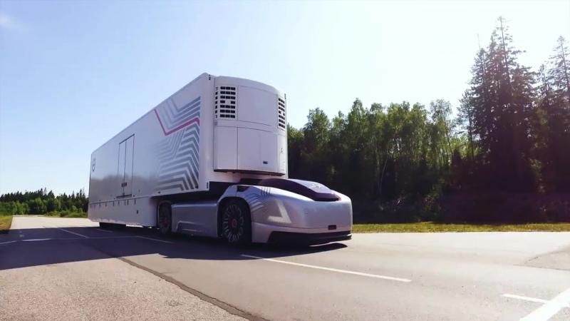Volvo показали концепт беспилотного электрогрузовика