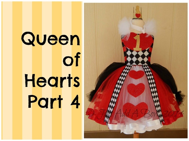 How to make a Queen of Hearts Tutu Dress by Just Add A Bow Part 4