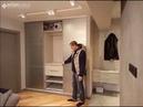 Дизайнерский шкаф купе в современном интерьере и открытая прихожая Стоимость 65.000