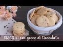 BISCOTTI COOKIE CON GOCCE DI CIOCCOLATO Ricetta Facile - Fatto in casa da Benedetta