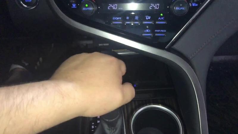 Новая Toyota Camry. Установили мультилок замок акпп - один из вариантов защиты от угона машины