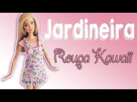 Jardineira Como Fazer Roupa de Boneca Barbie Cherry Miniaturas