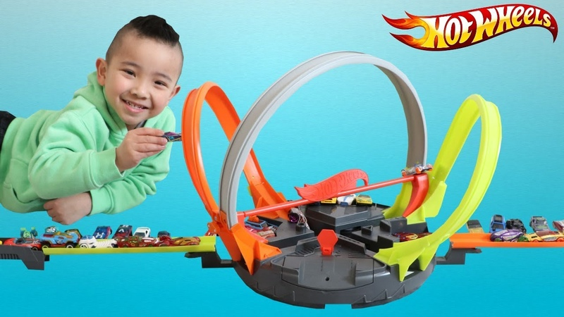 HOT WHEELS Roto Revolution Fast Cars Track Set Unboxing Fun With CKN Toys