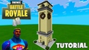 """Minecraft: How To Make Tilted Towers Clock Tower """"Fortnite"""""""