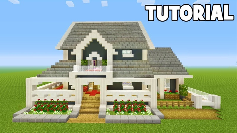 Minecraft Tutorial How To Make A Suburban House 15 Interior Included