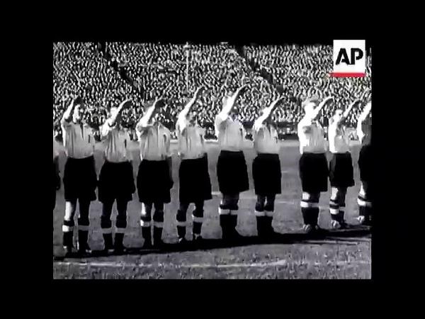 Приветствие сборной Англии и Германии по футболу 1938 год