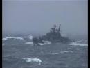 ЖЕСТЬ!!ШТОРМ! Русский корабль попал под шторм в океане..